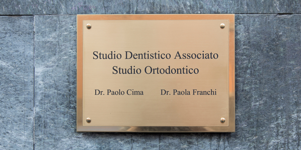 Studio Cima Franchi - targa