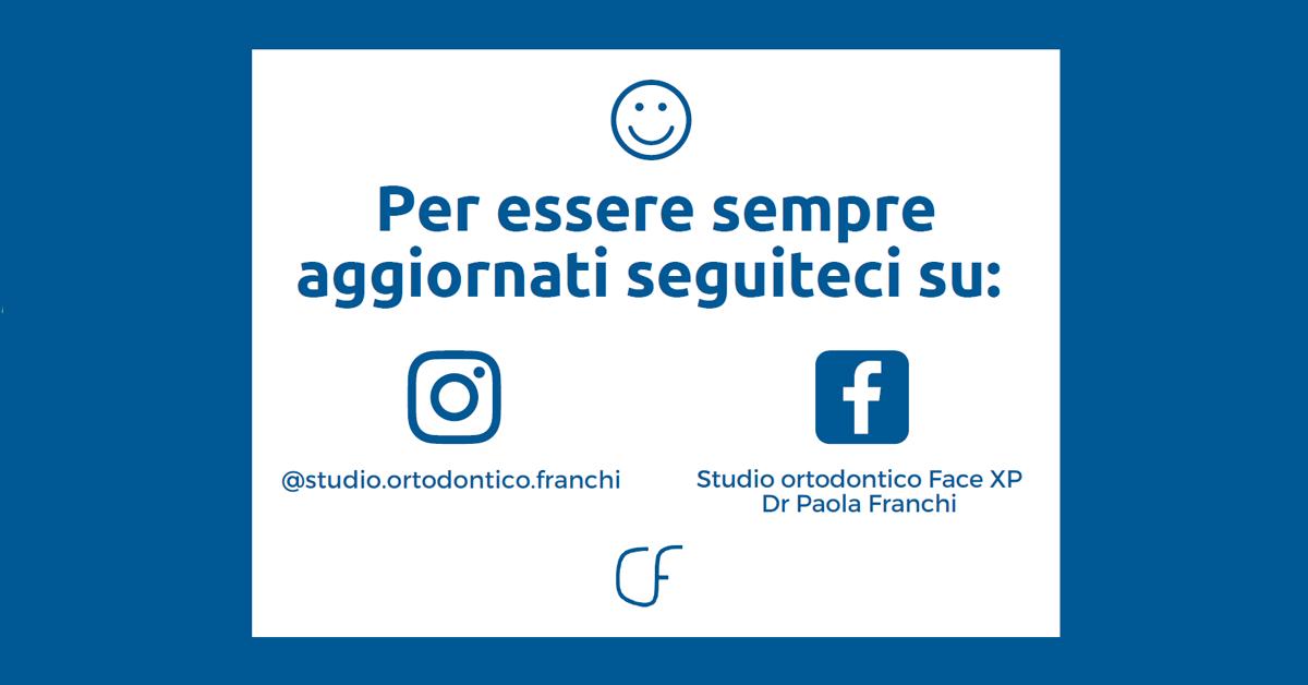 Seguici su facebook instagram